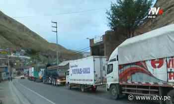 La Oroya: Se normaliza tránsito en la carretera central - ATV.pe