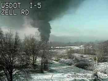 Train hauling crude oil derails causing evacuation in Washington State