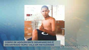 Corpo de adolescente desaparecido é encontrado em Matozinhos (MG) - HORA 7