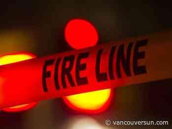Crews battling fire in New Westminster Wednesday morning