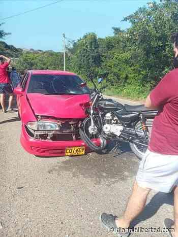 Dos heridos deja accidente en la vía Tubará-Playas - Diario La Libertad