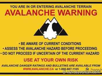 Avalanche warning issued for most eastern B.C. mountain ranges