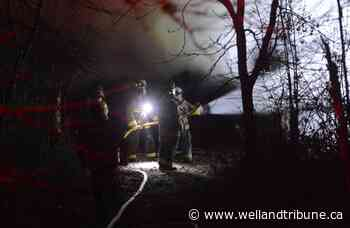 Fire destroys trailer at possible homeless encampment in Port Colborne - WellandTribune.ca