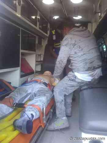 Fotonota: Un lesionado por volcadura en la carretera Acajete-Teziutlan - DesdePuebla