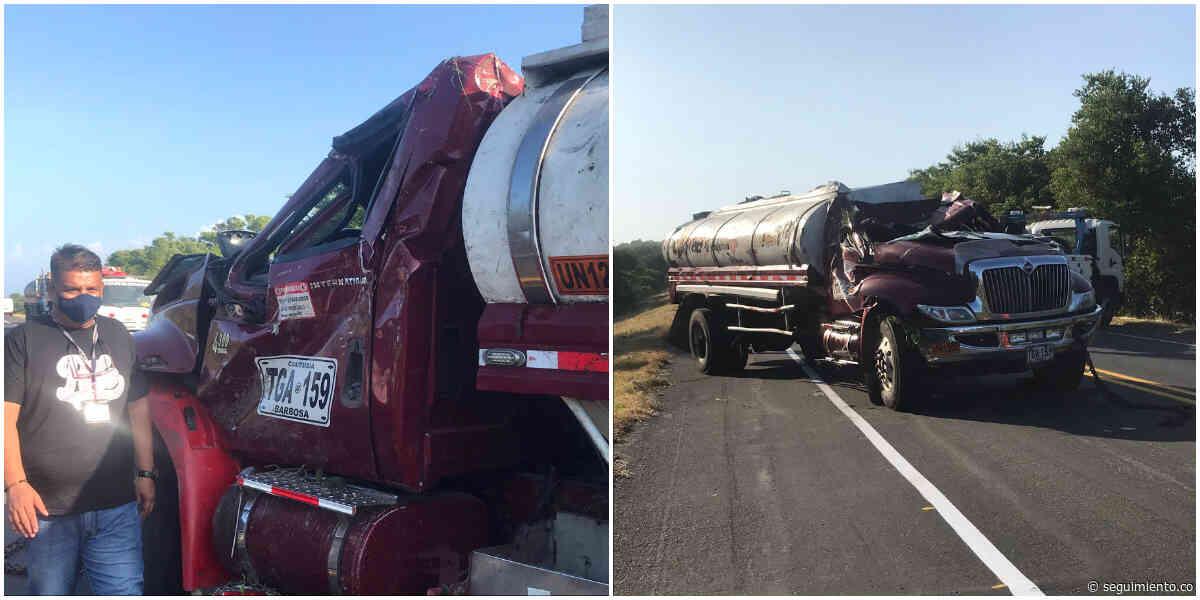 En día de Navidad bomberos de Sitionuevo evitan tragedia por cisterna accidentado - Seguimiento.co