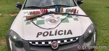 Polícia prende homem por posse irregular de espingarda em Conchas - G1