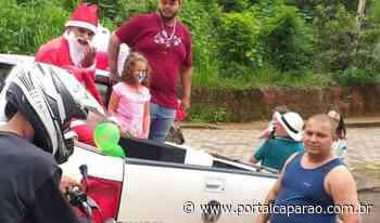 Voluntários distribuem brinquedos para crianças em Manhumirim - Portal Caparaó