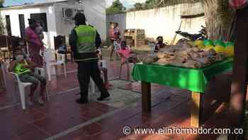La Policía entregó regalos a niños de pocos recursos en Chibolo, Magdalena - El Informador - Santa Marta