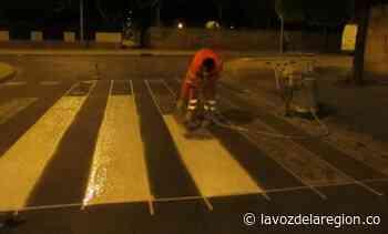 Implementan proceso de mejoramiento de la señalización vial en Tesalia - Noticias