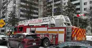 Two people seriously injured after fire at Toronto high-rise, paramedics say