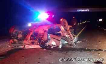 Un muerto y un lesionado en aparatoso accidente en Ameca, Jalisco. - Tala Jalisco Noticias