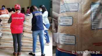 Arequipa: Entregan azúcar con fecha de vencimiento adulterada en Cocachacra   Contraloría   lrsd - LaRepública.pe