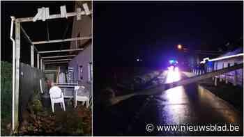 Diverse oproepen voor stormschade in Koekelare, dak carport weg gewaaid