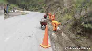 La Libertad: inician mantenimiento de la carretera Santiago de Chuco-Shorey LRND - LaRepública.pe