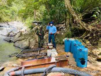Siete capturados y destrucción de maquinaria por minería ilegal en Falan - Ecos del Combeima