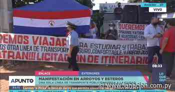 Arroyos y Esteros: pobladores se manifiestan y piden ingreso de más líneas de transporte - La Nación.com.py
