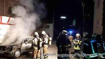 Auto gerät in Kettershausen in Brand - Augsburger Allgemeine