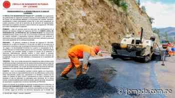 Puquio: Círculo de Ingenieros se pronuncia por mala ejecución de mantenimiento en obras - Jornada