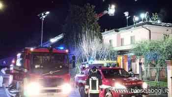 Impianto fotovoltaico a fuoco Una notte di paura a Passirano - Brescia Oggi