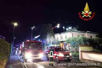 Brucia il tetto, allarme nella notte a Passirano - Giornale di Brescia