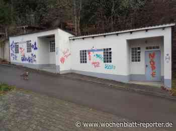 Neue Farbschmierereien In der Heimbach: Wessen Synonyme könnten das sein? - Meisenheim - Wochenblatt-Reporter