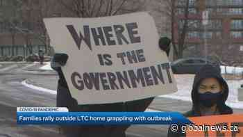 Families rally outside Toronto LTC home grappling with COVID-19 outbreak