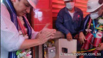 Gobierno entrega redes de gas en Mizque que benefician a 454 familias - Opinión Bolivia