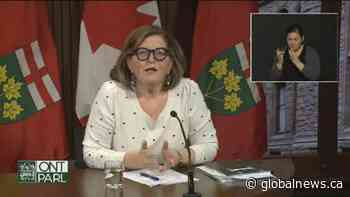 Coronavirus: Ontario health official stresses importance of travel quarantine in wake of new variant