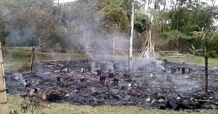 Indígenas de Caldono, Cauca, denuncian incendio provocado de la 'Casa del Pensamiento' - infobae