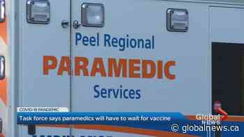 Peel paramedics union seeks clarity on when members will be eligible for COVID-19 vaccine