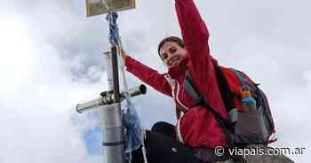 La reina de la Vendimia hizo cumbre en el Cerro Punta Negra - Vía País