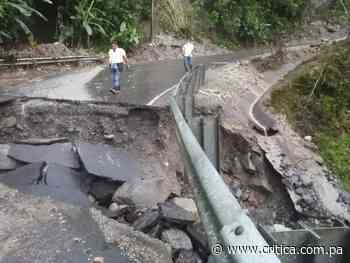 ¡Destrampada! MOP cierra vía Volcán -Río Sereno - Crítica Panamá