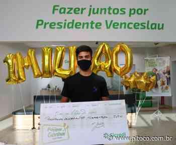Campanha do Sicredi premia associado de Presidente Venceslau (SP) com R$ 1 milhão - Pitoco