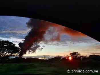 Incendio por derrame petrolero en Punta de Mata - primicia.com.ve