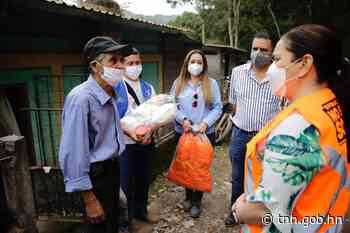 En Santa Rita: Más de 100 familias afectadas por el río Copán reciben alimentos y kits de limpieza y bioseguridad - tnh.gob.hn