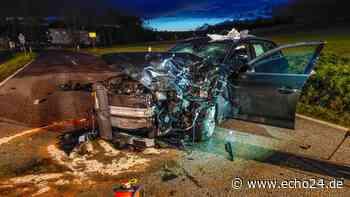 Heftiger Frontal-Crash bei Schwaigern - Trümmerfeld und drei Verletzte! - echo24.de