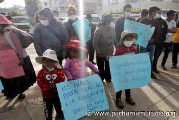 Yunguyo: solicitan a GORE Puno la asignación de un local a favor del jardín Alto Alianza - Pachamama radio 850 AM