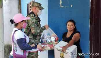 Arenal del sur en Bolívar, beneficiado con 350 mercados del Ejército - Caracol Radio