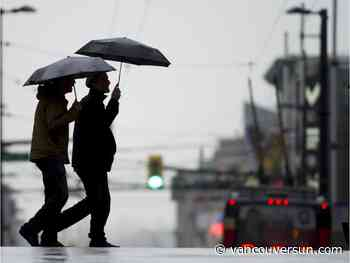 Rainfall warning posted for parts of B.C.'s South Coast