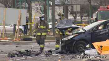 North-end Toronto crash leaves at least 6 injured, 1 in critical condition
