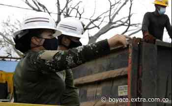 Una mujer de Ráquira comanda tropas que trabajan en reconstrucción de Providencia [VIDEO] - Extra Boyacá