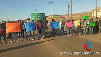 Bloquearon ejidatarios carretera de Ens-San Quintin por conflicto de Tierras - AGENCIA FRONTERIZA DE NOTICIAS