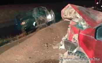 Dos heridos deja choque cerca de la comunidad Penjamo, en Guamúchil - Debate