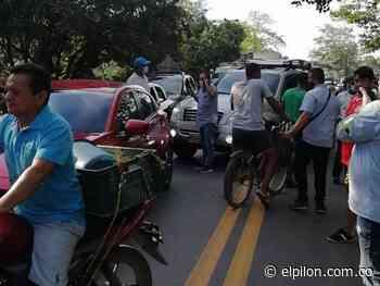 Protestas en Curumaní por licencia ambiental que permite extraer material de arrastre - ElPilón.com.co