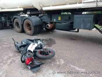 Jovem morre após colidir na lateral de carreta durante conversão em Navirai - Fátima News