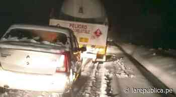 Arequipa: nevadas causaron accidente en vía a Chivay - LaRepública.pe
