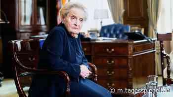 Ex-US-Außenministerin Madeleine Albright über Trumps Erfolge und Amerikas Bescheidenheit - Tagesspiegel