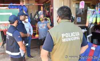 Tributación y municipalidad fiscalizan puestos de venta en Eusebio Ayala - Hoy
