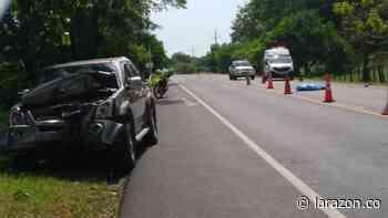 Hombre murió tras chocar contra un vehículo en la vía Sahagún – Chinú - LA RAZÓN.CO