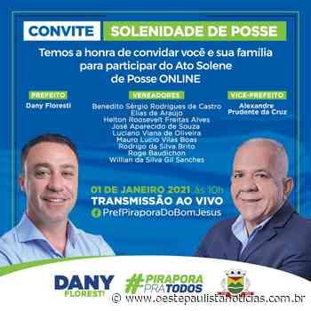 Pirapora do Bom Jesus: Ato Solene de Posse terá transmissão online - Portal Oeste Paulista